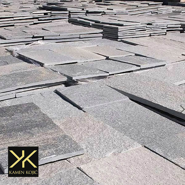 Sečeni kamen sivi prirodni kamen