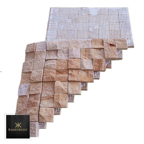 mozaik od kamena za stubove