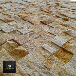 mozaik od prirodnog kamena krem
