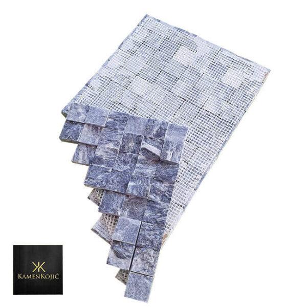 mozaik od kamena sivi