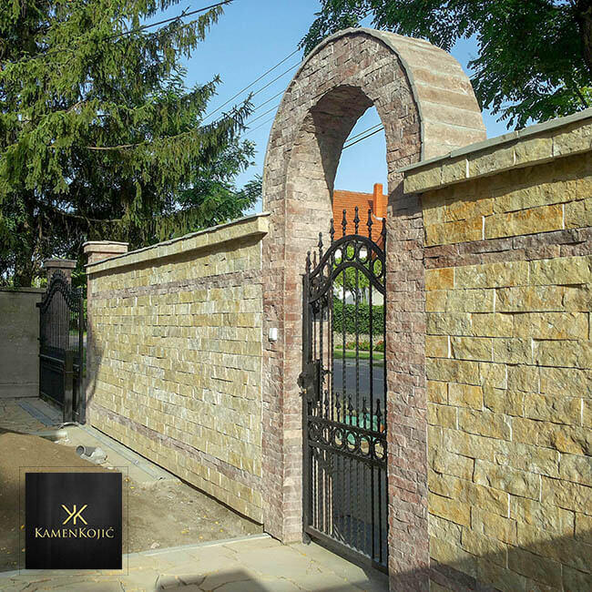 sečeni kamen za ograde