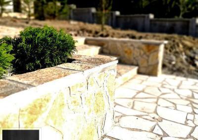 Lomljeni prirodni kamen stepenište spoljno