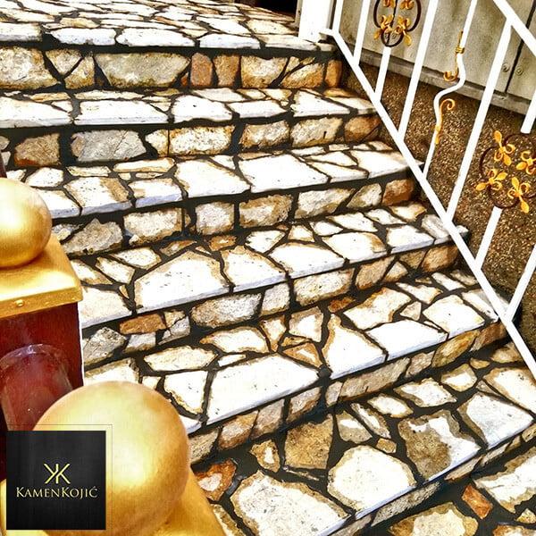 Lomljeni struganicki kamen stepenice