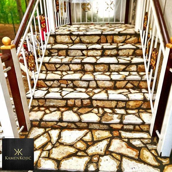 Stepenice prirodni kamen Beograd