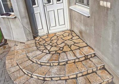 Prirodni kamen Petrovaradin stepenice