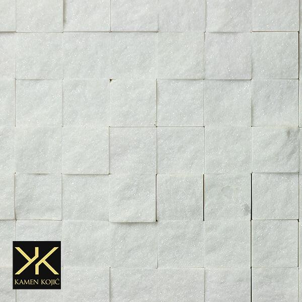 Beli mermer mozaik od kamena