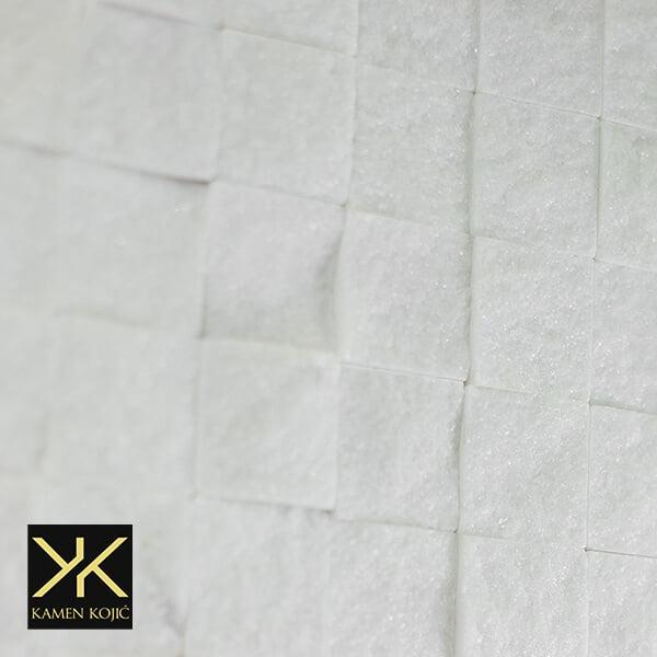 dekorativni kamen beli mermer mozaik