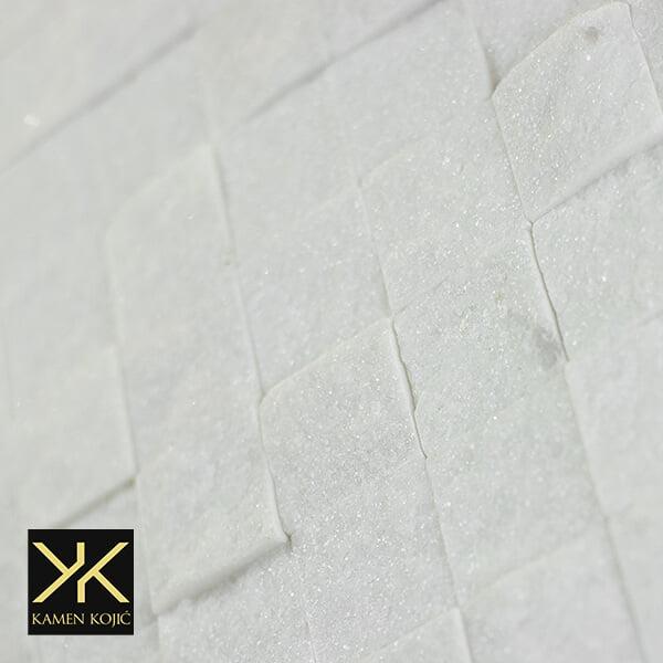 dekorativni mozaik od kamena beli mermer