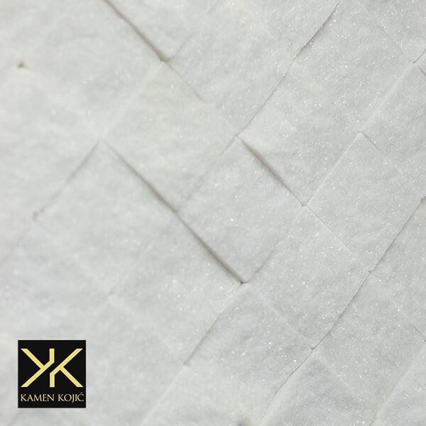 mozaik od kamena beli mermer