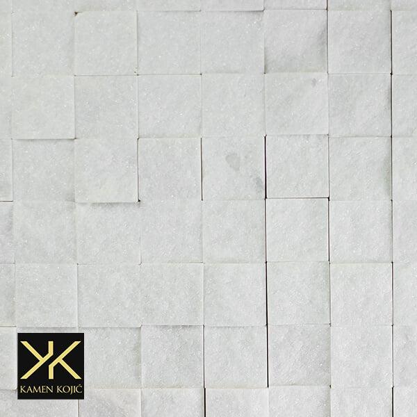 prirodni kamen beli mermer mozaik