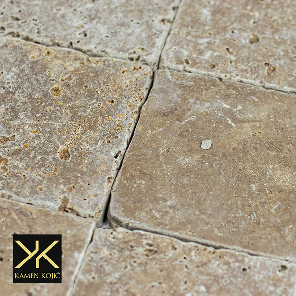 travertin braon tiles 10 x 10